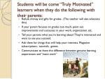 students will be come truly motivated learners when they do the following with their parents