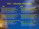 tafs monday afternoon