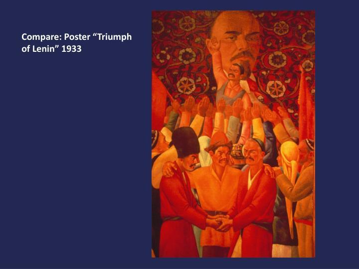 """Compare: Poster """"Triumph of Lenin"""" 1933"""