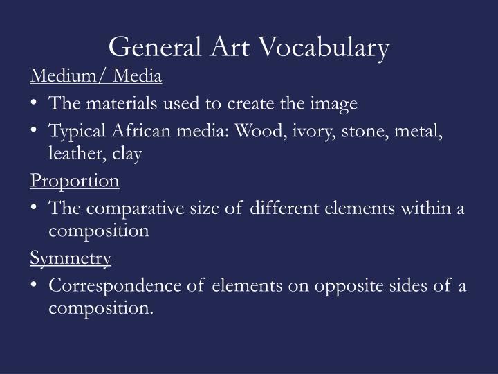 General Art Vocabulary