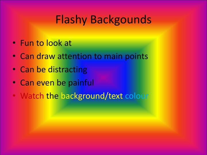 Flashy Backgounds