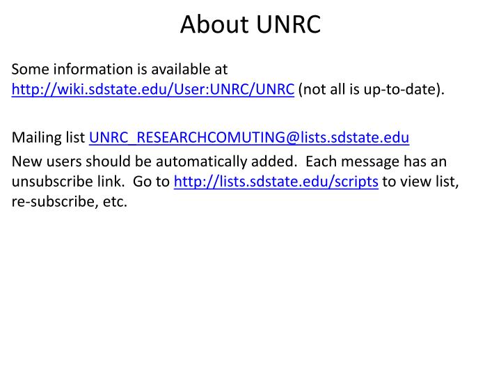 About unrc