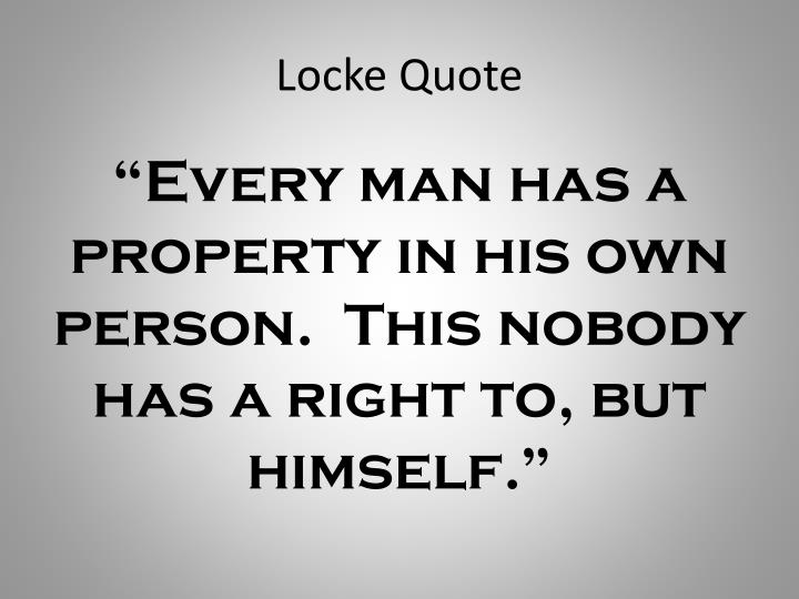 Locke Quote