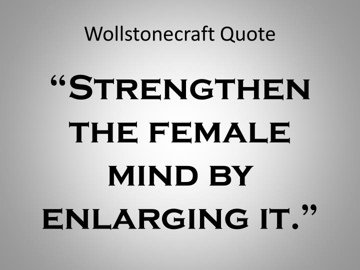Wollstonecraft Quote