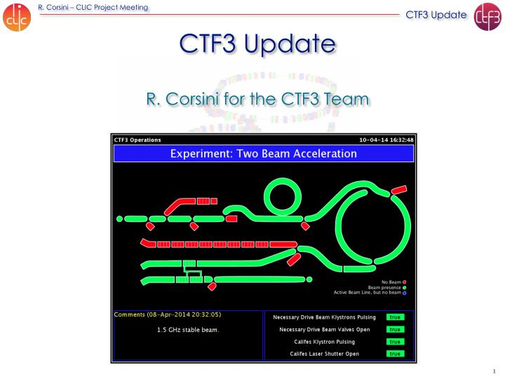Ctf3 update r corsini for the ctf3 team