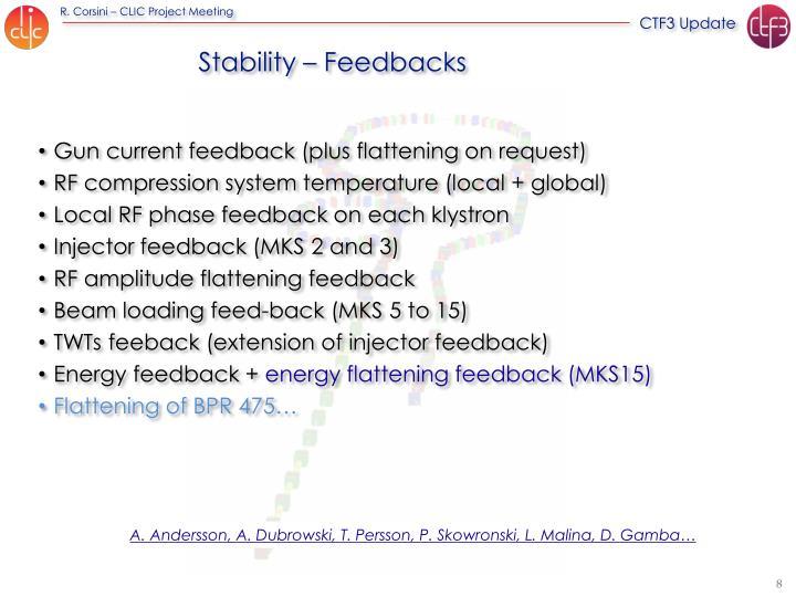 Stability – Feedbacks