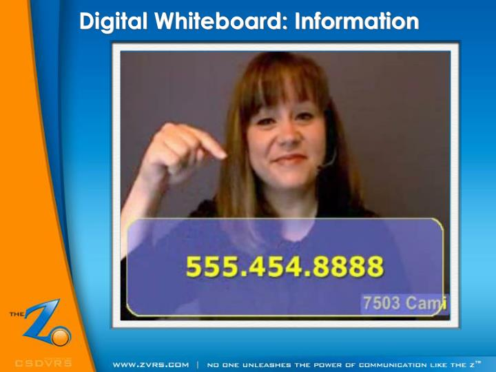 Digital Whiteboard: Information