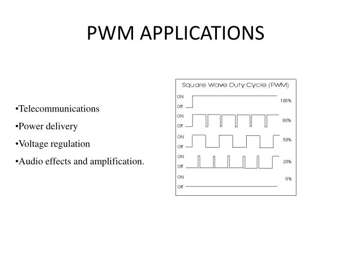 PWM APPLICATIONS