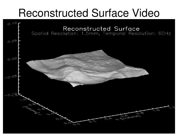 Reconstructed Surface Video