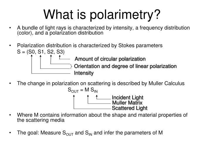 Amount of circular polarization