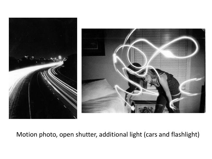 Motion photo, open shutter, additional light (cars and flashlight)