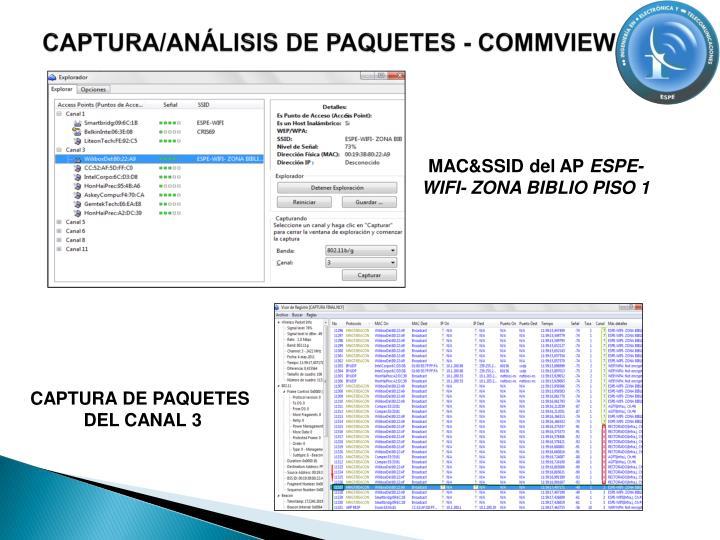 CAPTURA/ANÁLISIS DE PAQUETES - COMMVIEW
