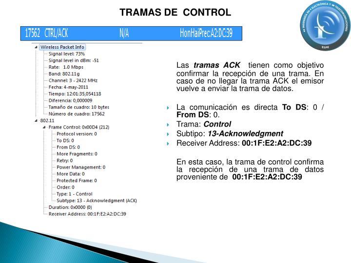 TRAMAS DE  CONTROL