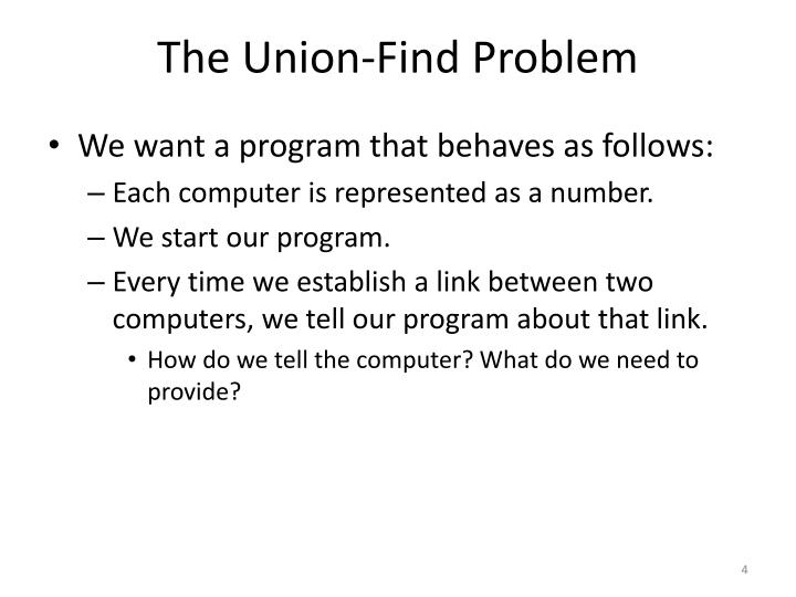 The Union-Find Problem