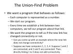 the union find problem5