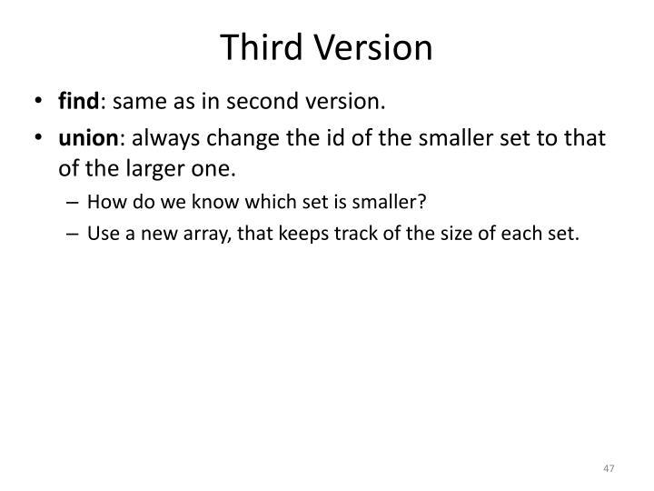 Third Version