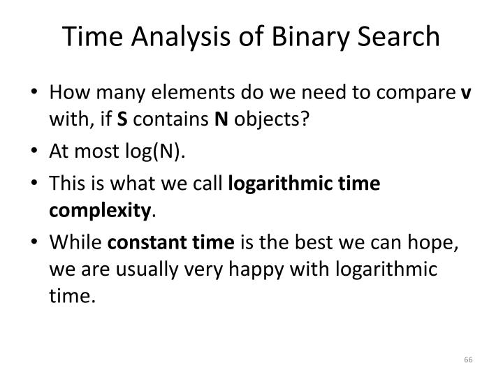 Time Analysis of Binary Search