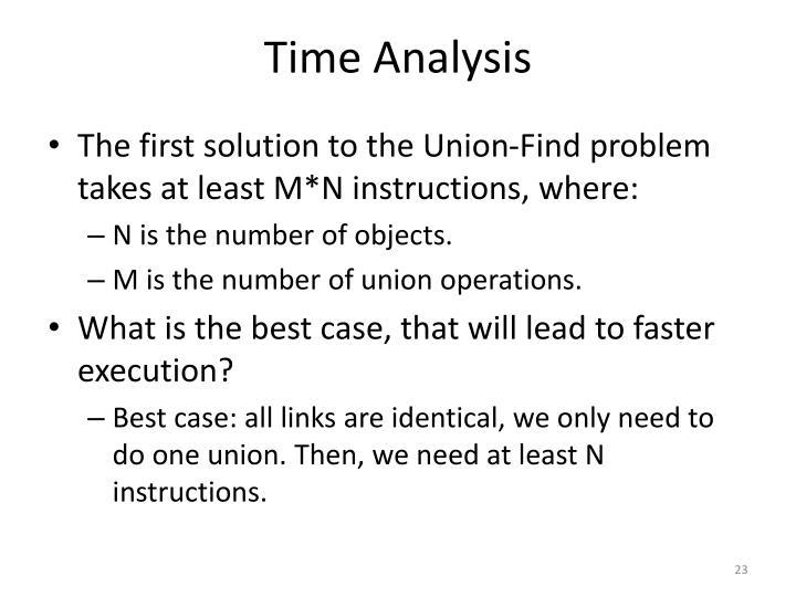 Time Analysis
