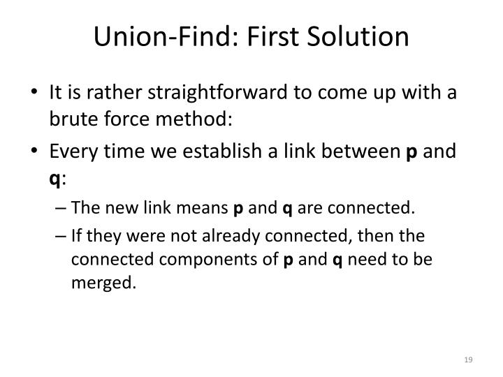 Union-Find: First Solution