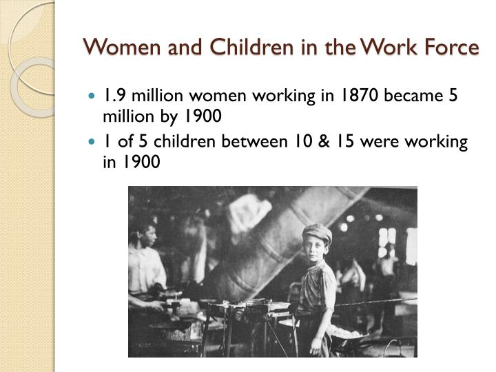 Women and Children in the Work Force
