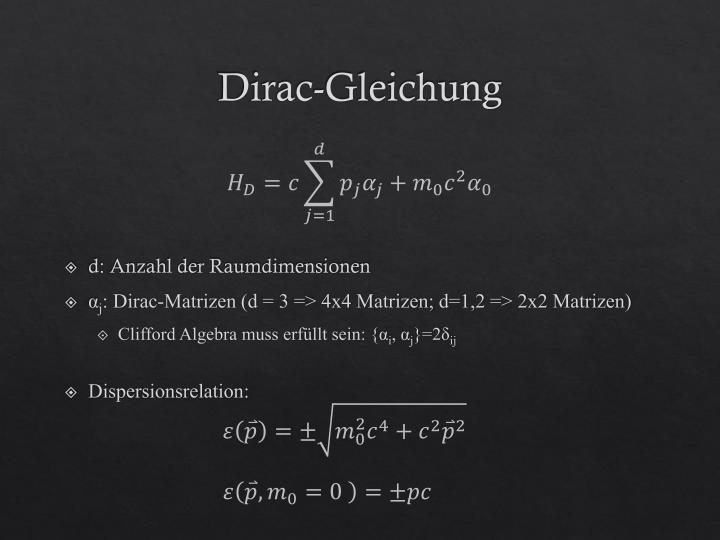 Dirac-Gleichung