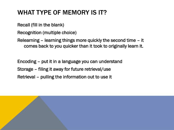 What type of memory is it