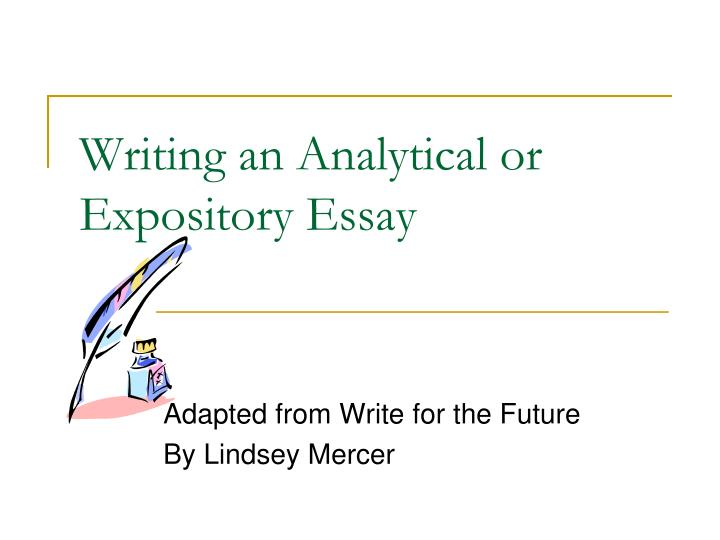 Example of a college admission essay