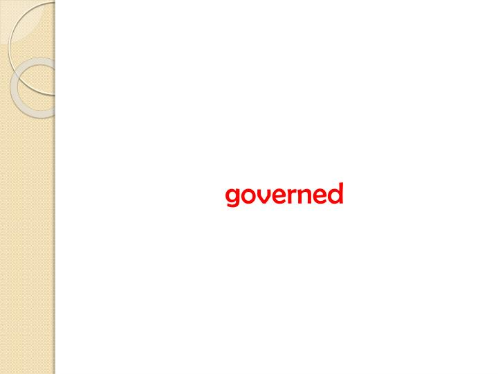 governed