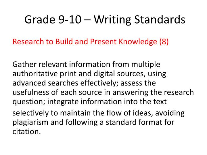 Grade 9 10 writing standards1