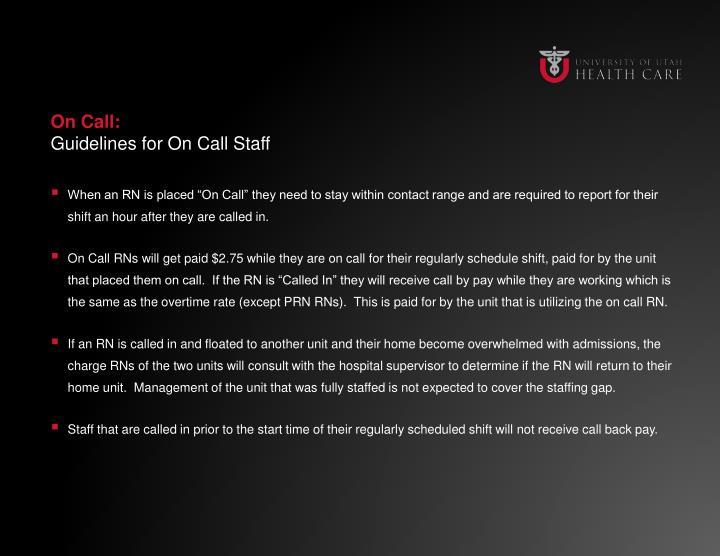 On Call: