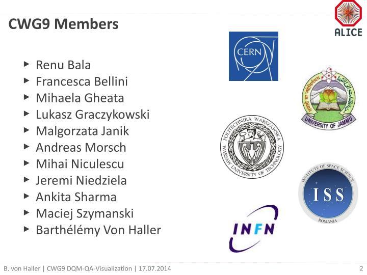 CWG9 Members