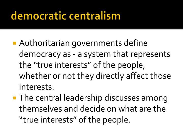 democratic centralism