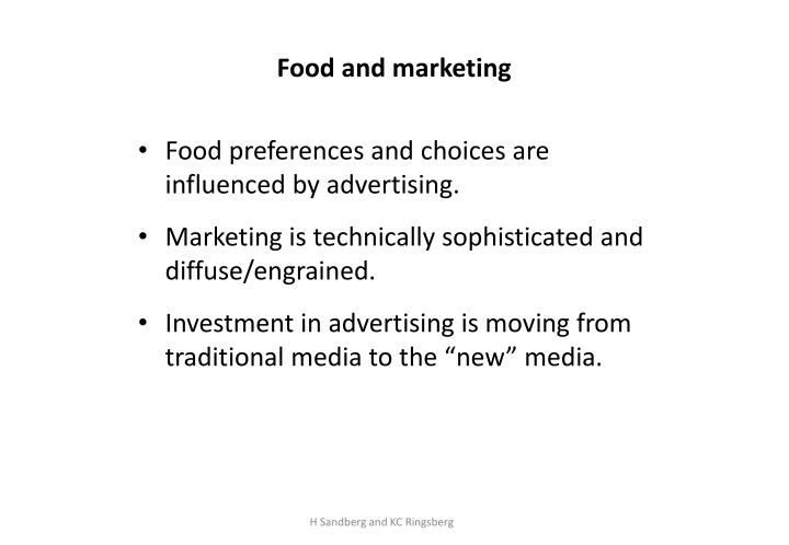 Food and marketing
