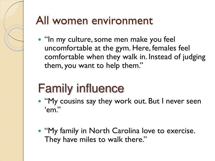 All women environment