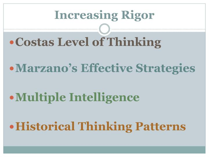 Increasing Rigor