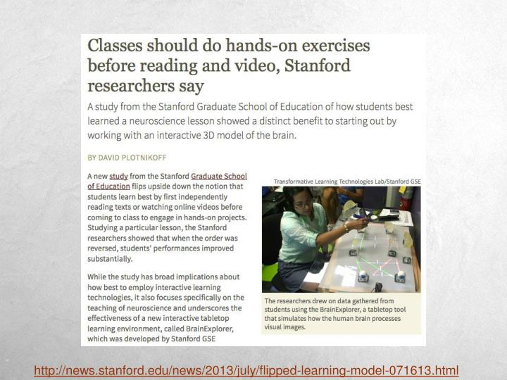 http://news.stanford.edu/news/2013/july/flipped-learning-model-071613.html