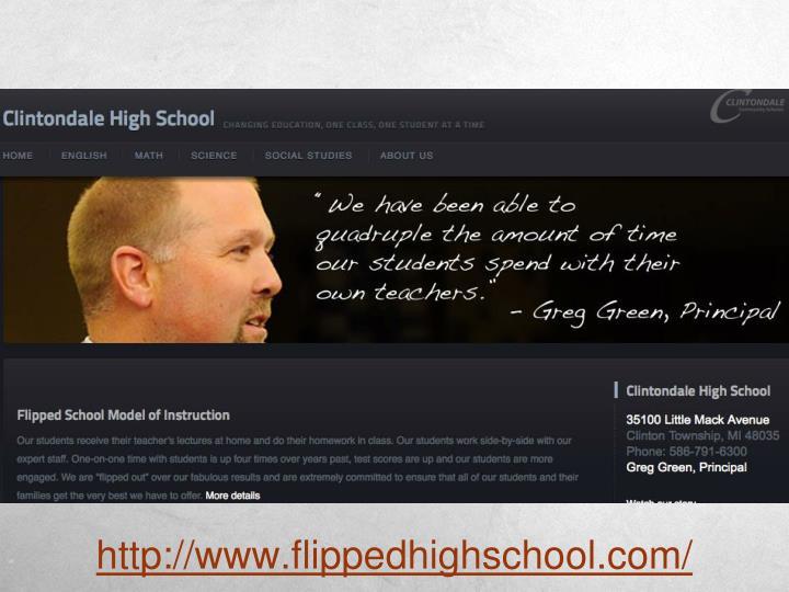 http://www.flippedhighschool.com/