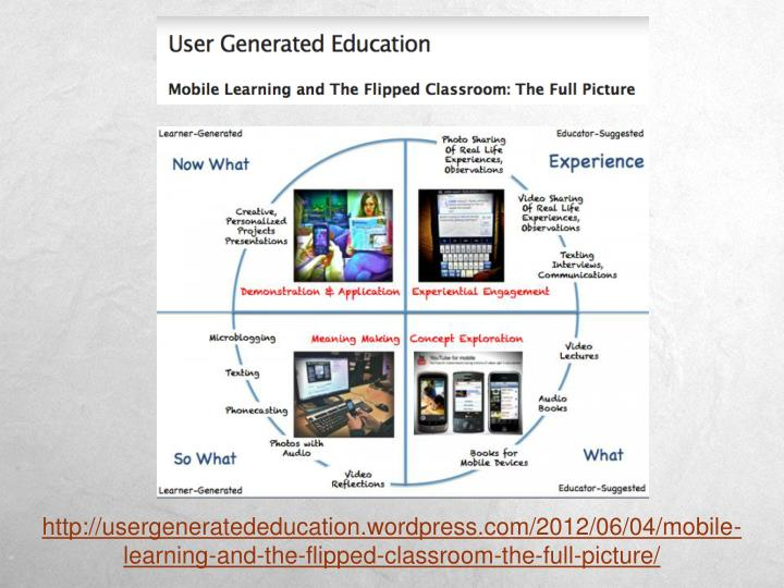 http://usergeneratededucation.wordpress.com/2012/06/04/mobile-learning-and-the-flipped-classroom-the-full-picture/