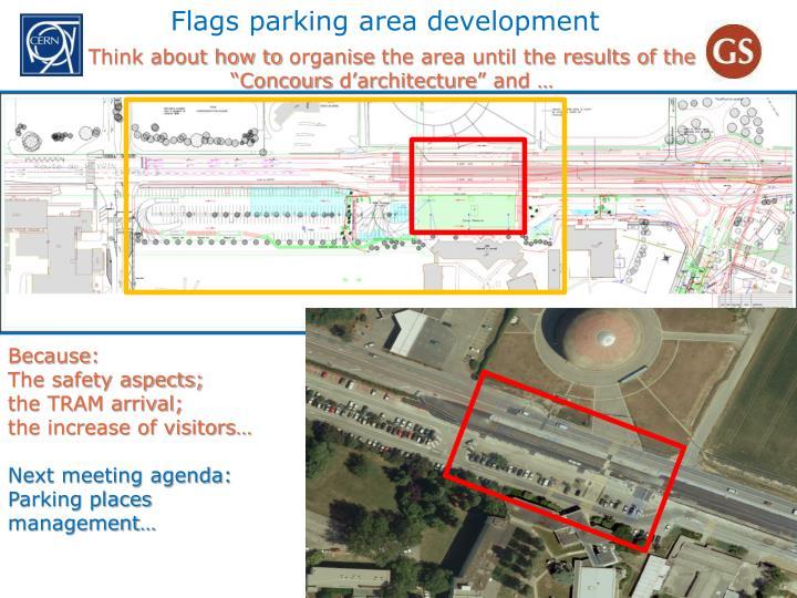 Flags parking area development