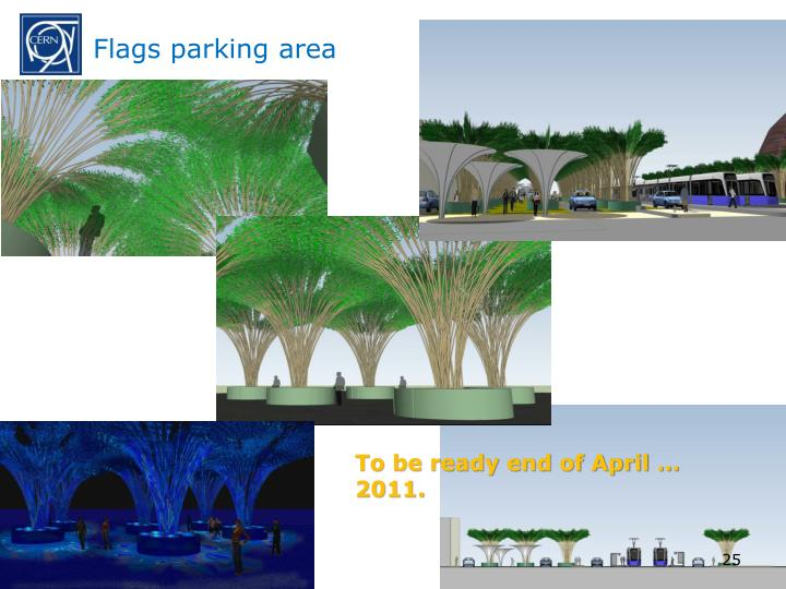 Flags parking area
