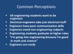 common perceptions