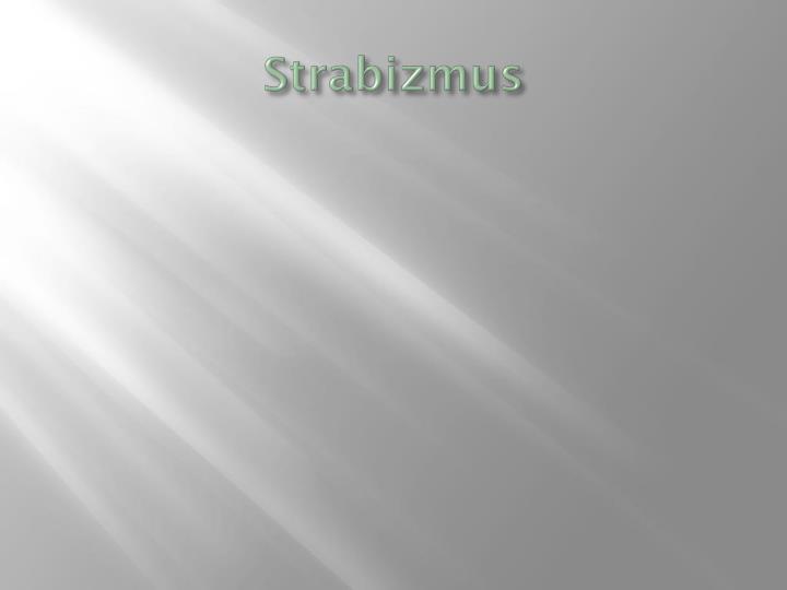 Strabizmus