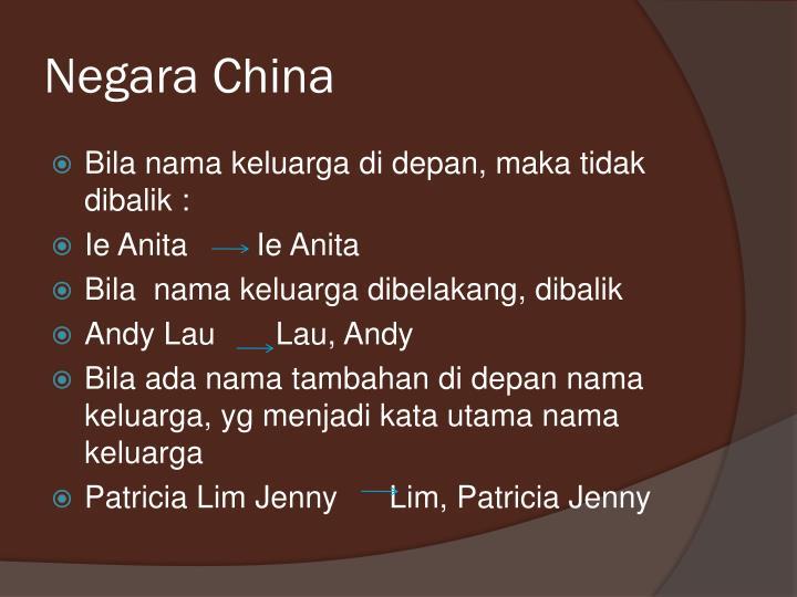 Negara China
