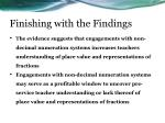 finishing with the findings2