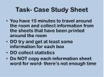 task case study sheet