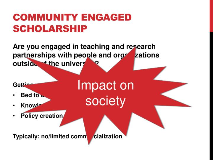 Community Engaged Scholarship