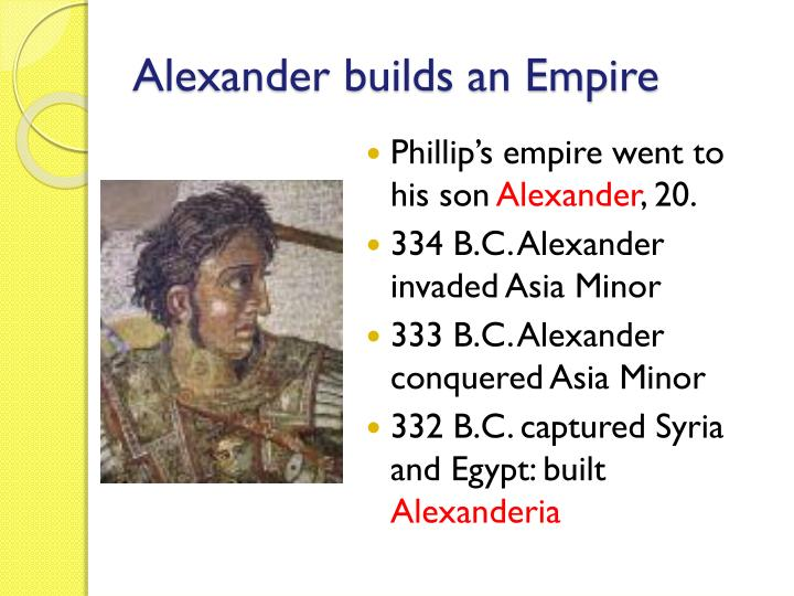 Alexander builds an empire