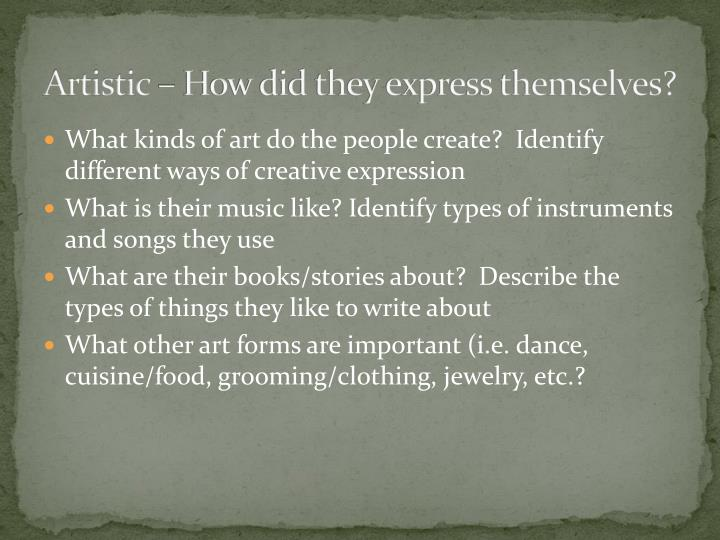 Artistic – How