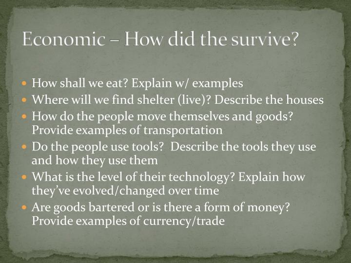 Economic – How