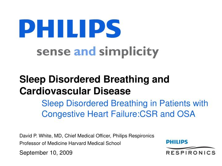 Sleep Disordered Breathing and Cardiovascular Disease